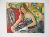 Pierre Cornu, Jeune fille lisant, ulei pe panza, Portrete, Altul