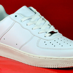 Adidasi barbati albi alb 41 42 43 44 45, Culoare: Din imagine, Piele sintetica