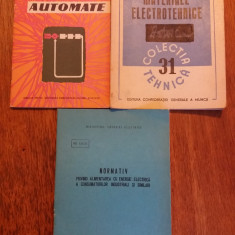 Lot 3 carti de electrotehnica / C20P - Carti Electrotehnica