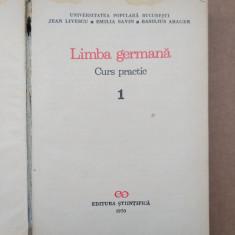LIMBA GERMANA CURS PRACTIC = JEAN. LIVESCU - VOLUMUL 1 = an 1970 - Curs Limba Germana