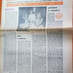 """Ziarul saptamana 5 octombrie 1979-art. """"imperative"""" de corneliu vadim tudor"""
