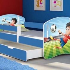 Set Patut Tineret cu Sertar 144x75cm Fotbal +Saltea - Pat tematic pentru copii MyKids