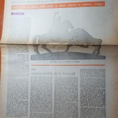 Ziarul saptamana 19 ianuarie 1979- articol despre unirea lui alexandru i. cuza