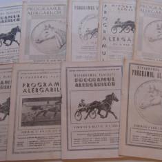 Lot 9 programe alergari hipice Hipodromul din PLOIESTI (anul 1975)