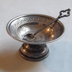 SOSIERA argint si LINGURITA argint SET splendid VECHI in miniatura SEMNAT superb
