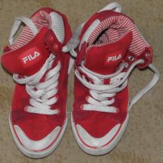 Fila rosii de copii tenisi/adidasi/incaltaminte sport, marimea 31 - Adidasi copii, Marime: 29, Culoare: Rosu