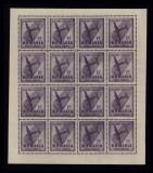 JOCURILE BALCANICE 1948 - MINICOALA DE 16 POSTA AERIANA LP 228 b - MNH, Nestampilat