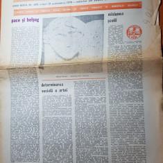 """Ziarul saptamana 21 septembrie 1979-"""" pace si belsug """" de corneliu vadim tudor"""