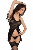 Corset Penelope Beauty Night - Corset nergu, chilot si portjartiere, L/XL, S/M, Din imagine