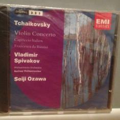 TCHAIKOVSKY - VIOLIN CONCERTO (1991/EMI rec/HOLLAND) - CD ORIGINAL/Sigilat/Nou - Muzica Clasica emi records