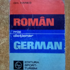 Gh. Hanes - Mic dictionar roman-german