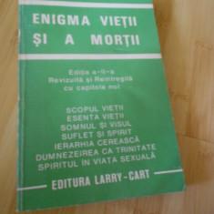 AUREL POPESCU - BALCESTI--ENIGMA VIETII SI A MORTII - Carte ezoterism