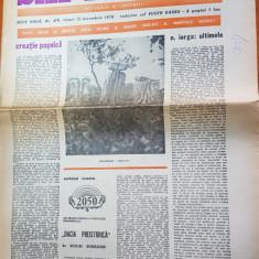 ziarul saptamana 15 decembrie 1978-articol despre nicolae iorga