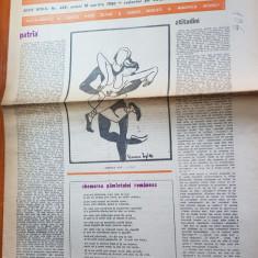 """Ziarul saptamana 18 aprilie 1980-art. """" patria """" de corneliu vadim tudor"""