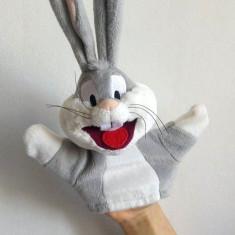 Marioneta teatru de papusi, papusa manuala, iepure desene animate Bugs Bunny - Jucarii plus
