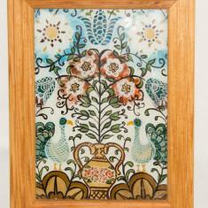Tablou model rustic - pictura pe sticla