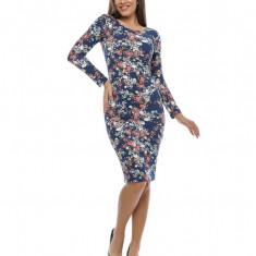 Rochie mulata cu imprimeu floral, 38, 40, 42, Din imagine, Lunga