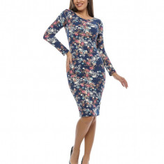 Rochie mulata cu imprimeu floral - Rochie de zi, Marime: 38, 40, 42, Culoare: Din imagine, Lunga
