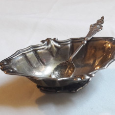 SOSIERA argint si LINGURITA argint SET superb VECHI in miniatura RAR colectie