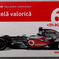 ROMANIA CARTELA Connex 6 $ McLaren Mercedes - PENTRU COLECTIONARI ** - Cartela GSM