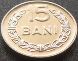 Moneda 15 Bani - ROMANIA, anul 1966 *cod 5077 --- UNC DIN SACULET BNR!