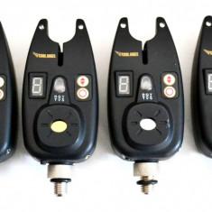 Set 4 Avertizori / Senzori Marca Cool Angel Impermeabili Mufa Jack 9V - Avertizor pescuit