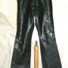 Pantaloni dama piele naturala neagra GIPSY  XL