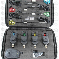 Set 4 Senzori cu Statie Si 4 Swingeri MKM-3 Valigeta Model 2018 - Avertizor pescuit