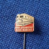 Insigna Locomotiva - tema feroviara - cai ferate