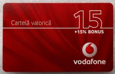 ROMANIA CARTELA Vodafone 15 - PENTRU COLECTIONARI ** foto