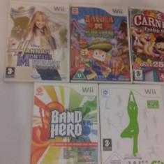 LOT 5 jocuri - Carnival - Samba de Amigo - Wii Fit - Nintendo Wii [Second hand], Sporturi, 3+, Multiplayer