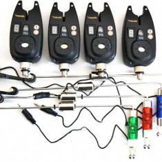 Set 4 Avertizori / Senzori Marca Cool Angel Mufa Jack 9V Si Swingeri Led - Avertizor pescuit, Electronice