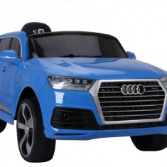 Masinuta electrica Audi Q7 albastru Metalizat - Masinuta electrica copii
