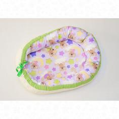Perna pentru alaptare tip Baby Nest Mic model Mov - Perna alaptat