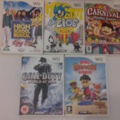 LOT 5 jocuri - De Blob - Call of duty - Carnival - Nintendo Wii [Second hand] - Jocuri WII, Actiune, 3+, Multiplayer