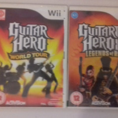 LOT 2  jocuri - Guitar Hero  - Nintendo Wii [Second hand], Actiune, 3+, Multiplayer