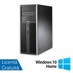 Calculator Refurbished HP Compaq 8000 Elite Tower, Intel Core 2 Quad Q9500 2.83GHz, 4GB DDR 3, 250GB SATA, DVD-ROM + Windows 10 Home - Sisteme desktop fara monitor