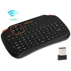telecomanda viboton  wireless cu tastatura mouse acumulator 2.4Ghz