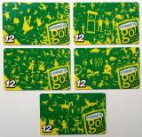 ROMANIA LOT / SET 5 x 12 $ cartele Connex - PENTRU COLECTIONARI **