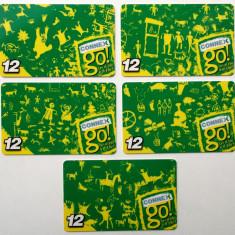 ROMANIA LOT / SET 5 x 12 $ cartele Connex - PENTRU COLECTIONARI ** - Cartela GSM