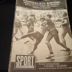 Revista Sport - Nr. 23, decembrie 1973, 23 pag