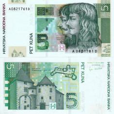 CROATIA 5 kuna 2001 UNC!!! - bancnota europa