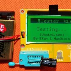 Esr metru tester componente rlc lcd 9v tranzistoare rezistente diode - Indicator