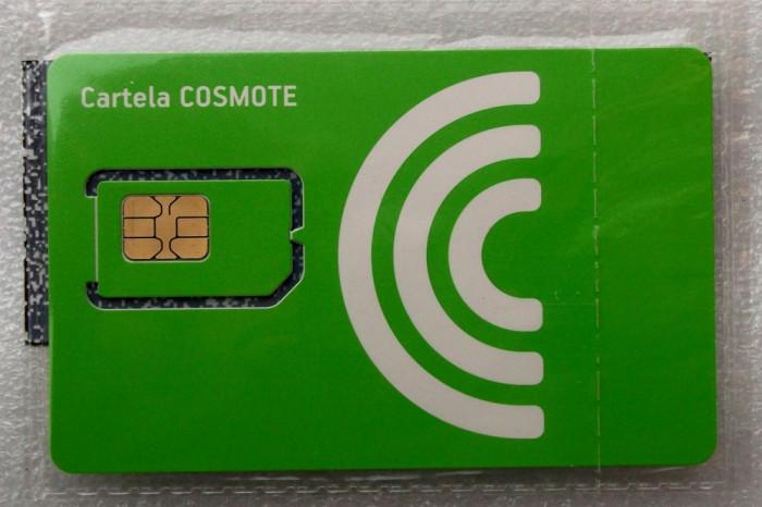 ROMANIA CARTELA SIM Cosmote neutilizata sigilata tipla - PENTRU COLECTIONARI **
