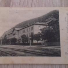 Bazias, Caras Severin, 1908, gara, linia Oravita-Bazias - Carte Postala Banat 1904-1918, Circulata, Fotografie