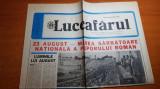 ziarul luceafarul 23 august 1986-marea sarbatoare nationala a poporului roman