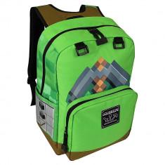 Ghiozdan Minecraft ORIGINAL Pickaxe Green LICENTA Mojang 44cm, Unisex, Verde