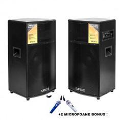 SISTEM 2 BOXE ACTIVE/AMPLIFICATE,BLUETOOTH,USB PLAYER,KARAOKE.350W, 2 MICROFOANE
