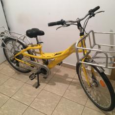 Bicicleta Electrica Gitane 250W 36V cadru acessorii aluminiu, 19.5 inch, 26 inch, Numar viteze: 6