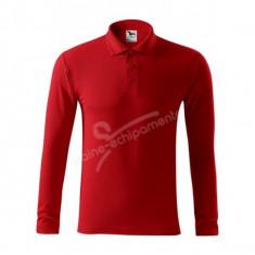 Bluza de barbati 3XL PIQUE POLO-GRAMAJ RIDICAT - Bluza XXXL, Culoare: Rosu